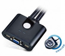 CS22U 2端口带线USB KVM多电脑切换器