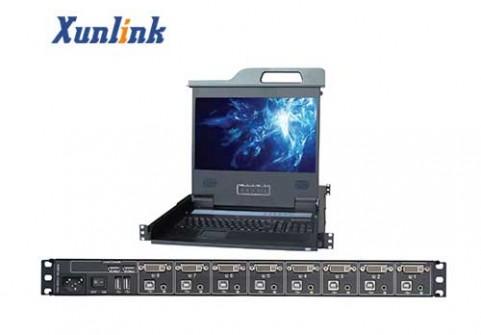 "LD1708WPD 17.3""宽屏DVI 8口KVM"