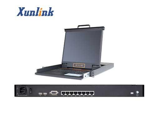 """LK1708C 17""""8口Cat5 LCD KVM"""