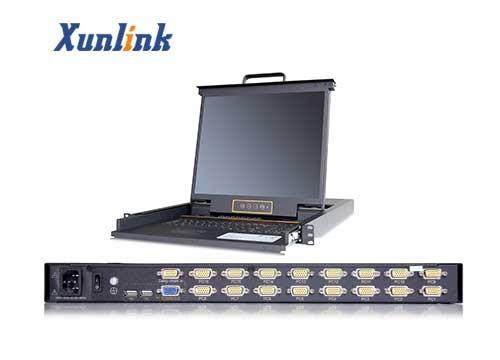 "LK1716 16口17""LCD KVM切换器"