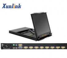 "LK1908D 8口19""双滑轨LCD KVM"