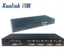 QS104 4画面分割KVM切换器