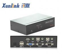 SV1002UA 2口桌面kvm支持usb2.0音频