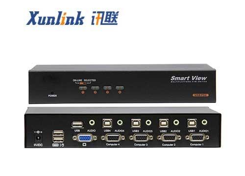 SV1004UA桌面4口支持USB2.0,音频切换器