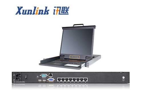 """XL1708Ci 17""""8口LED IP KVM切换器"""