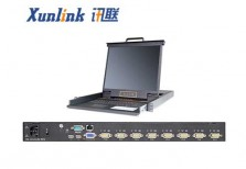 """XL1708i 17""""8口LED IP KVM切换器VGA"""