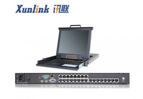 "XL1724Ci 17"" 24口LED OVER IP KVM切换器CAT5"