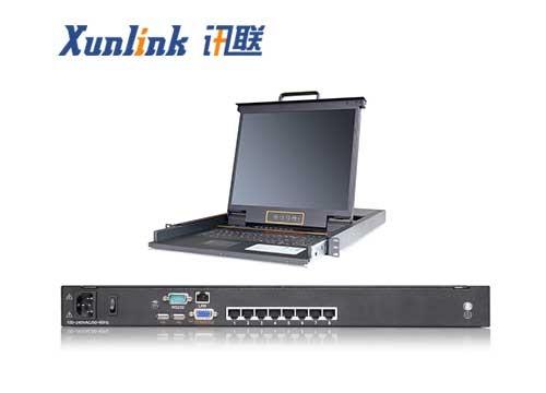 "XL1908Ci 19"" 8口LED IP KVM切换器CAT5"