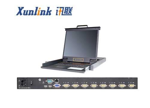"""XL1908i 19"""" 8口LED IP KVM切换器VGA"""