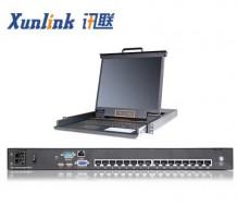 "XL1916Ci 19"" 16口LED IP切换器CAT5"