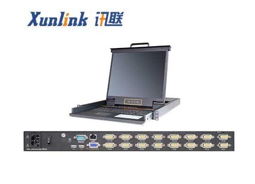 "XL1916i 19"" 16口LED IP KVM切换器VGA接口"