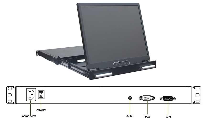 RMD-17W抽屉折叠显示器