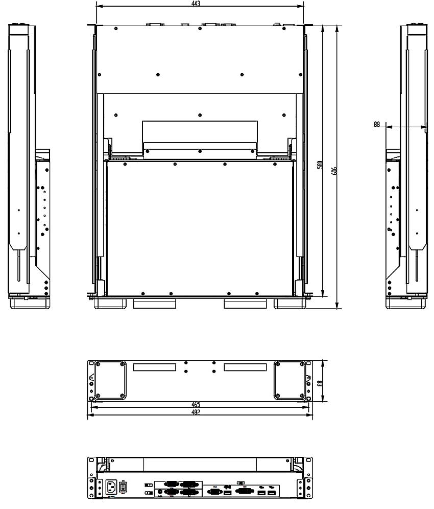 KVMD-1701W-T3kvm尺寸图